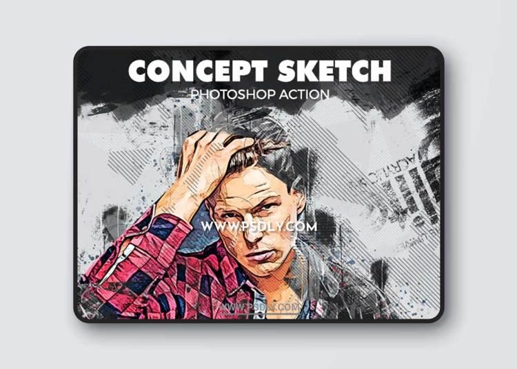 GraphicRiver - Concept Sketch Photoshop Action 34023427