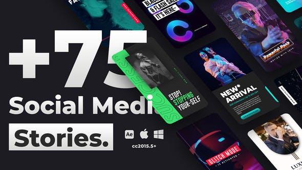 Videohive 75+ Social Media Stories 34096082