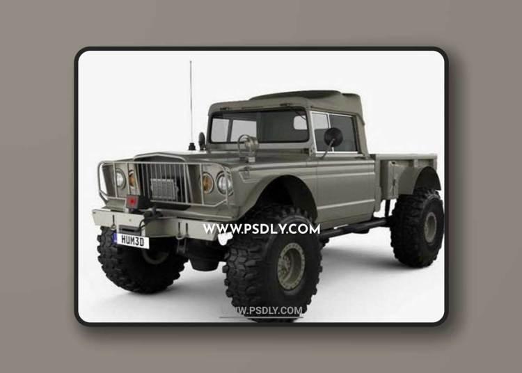 Jeep Kaiser M715 Olive Drab Ogre 1967 3D Models