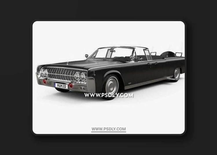 Lincoln Continental X-100 1961 3D Models