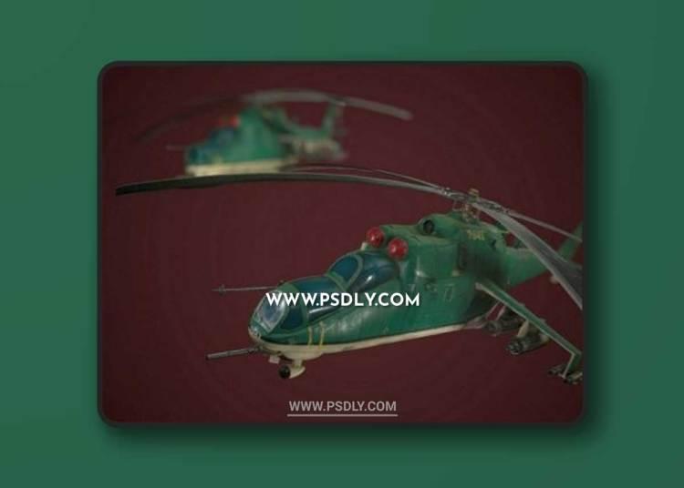 Low Poly MI-24 3D Models