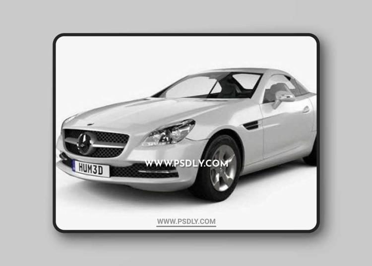 Mercedes-Benz SLK-Class 2012 3D Models