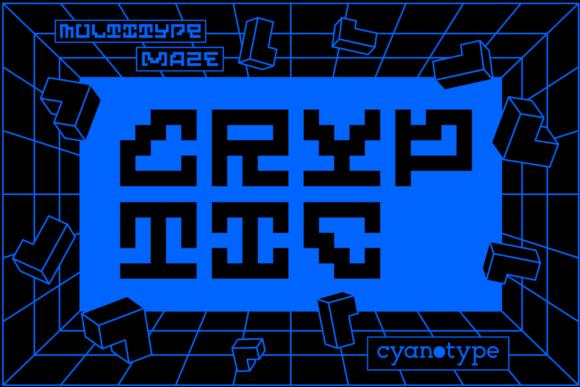 MultiType Maze Cryptic Font