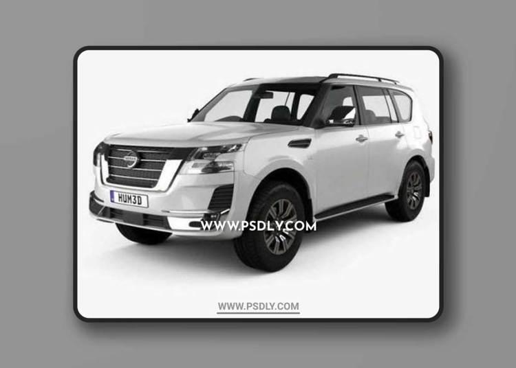 Nissan Patrol Ti L 2020 3D Model