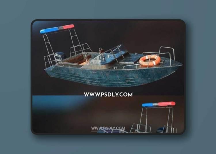 PowerBoat Police 3D Models