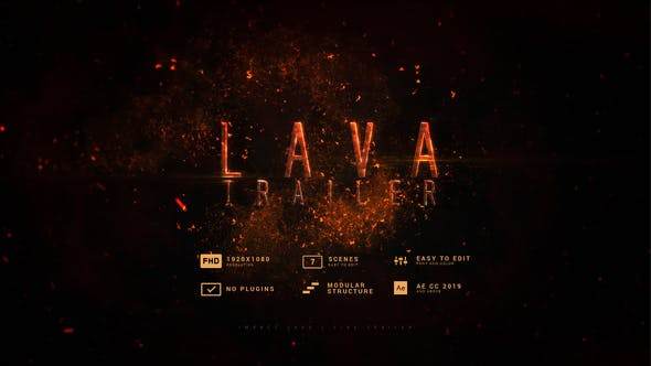 Videohive Impact Lava   Fire Trailer 30097095
