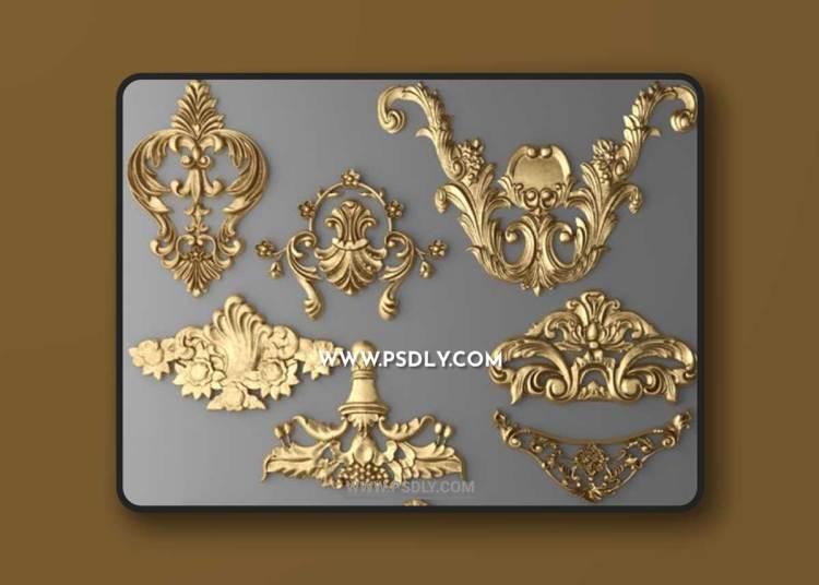 Set stucco decoration 3D Models