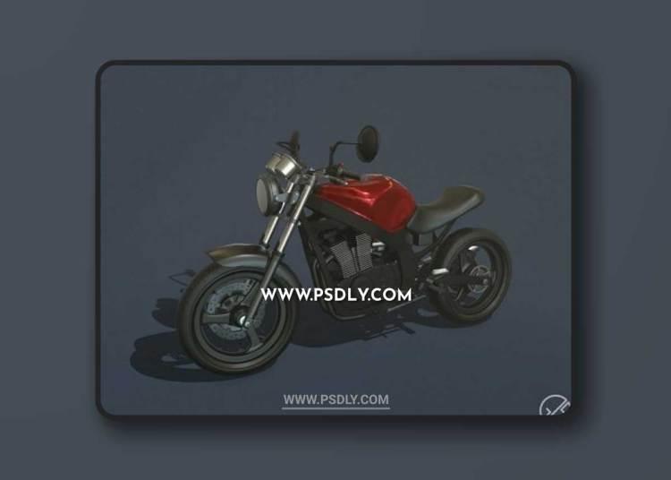 Suzuki gs500 Custom Motorcycle 3D Models