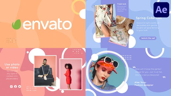 Videohive Fashion Liquid Slideshow | After Effects 34164886