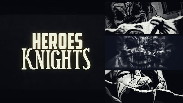 Videohive Heroes Knights Logo Intro 24805200