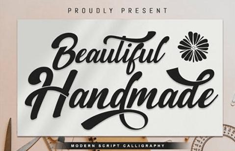 Beautiful Handmade Font