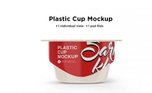 CreativeMarket - Matte Yogurt Cup Mockup 5514632