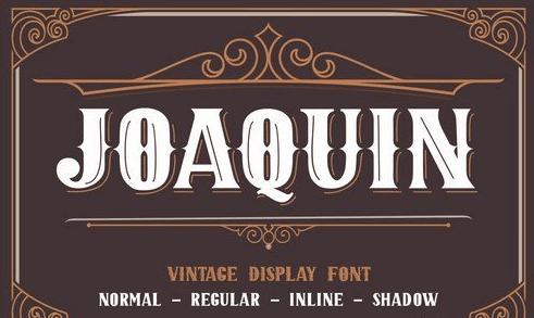 Joaquin - Vintage Display Font