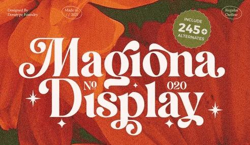 Magiona Display Font