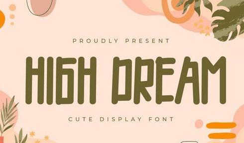 High Dream - Display Font