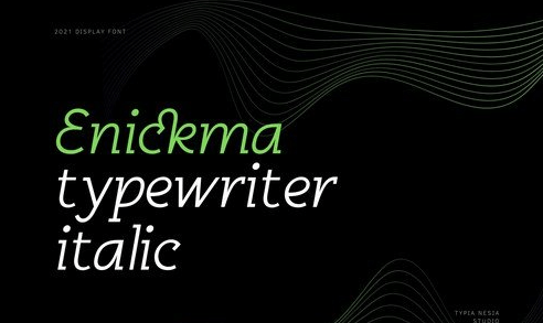 Enickma - Techno Typewriter Italic Font