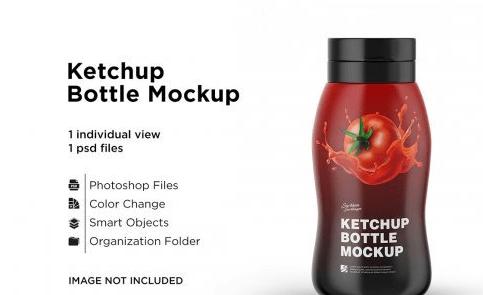 CreativeMarket - 250g Ketchup Bottle Mockup 5558019