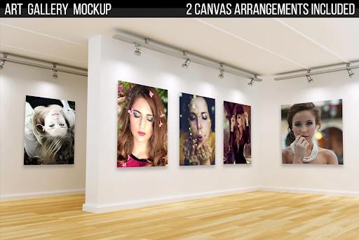 CreativeMarket - Art Gallery Mockup 3188830