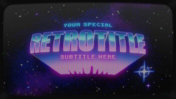 Videohive Retrowave Intro 32605111