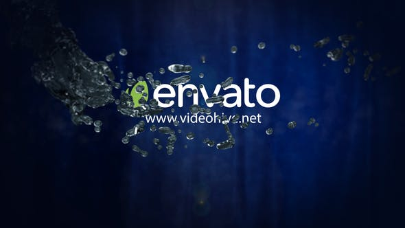 Videohive Water Logo Intro 34162911