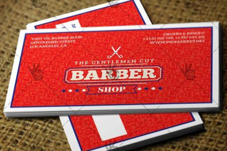 Barber Shop   Premium Business Card PSD AI Template barber shop premium business card psdai template