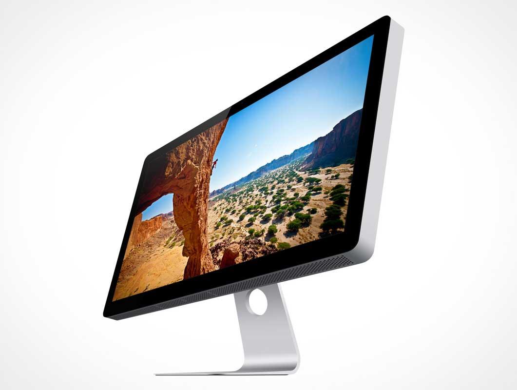 Apple Thunderbolt Cinema Display 27in Psd Mockup Psd Mockups
