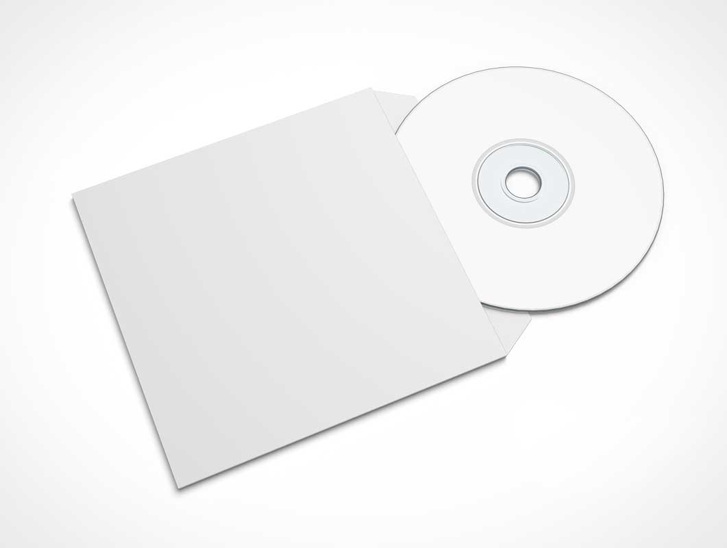 The aesthetics of a cd mockup responds to its functionality: Cd 3 4 Psd Mockups