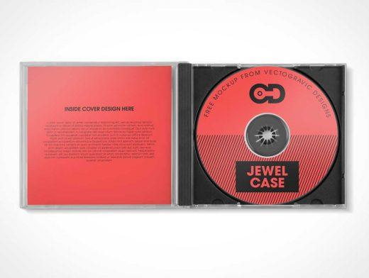 Free Open Cd Jewel Case Psd Mockup Psd Mockups