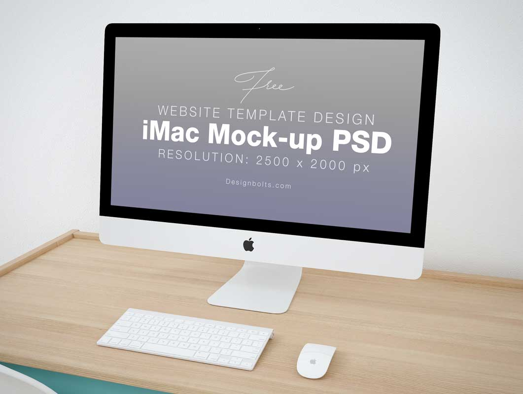 Imac Home Office Workspace Psd Mockup Psd Mockups