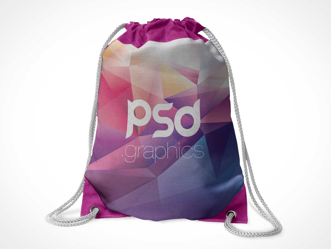 Free for commercial use high quality images Drawstring Tote Bag Front Grommets Psd Mockup Psd Mockups