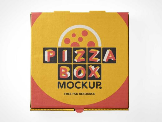 Download Pizza Delivery Box Top Cover PSD Mockup - PSD Mockups