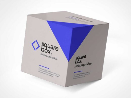 Square Box Delivery Packaging PSD Mockup - PSD Mockups
