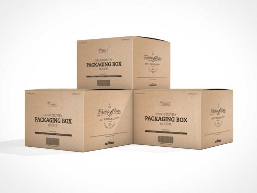Download Recycled Cardboard Moving Boxes PSD Mockups - PSD Mockups