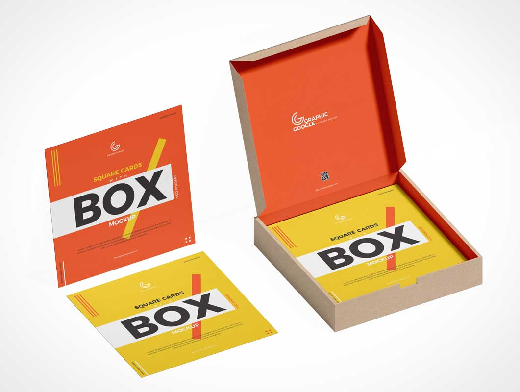Showcase your design with this playing cards / card box mockup. Cards Psd Mockups