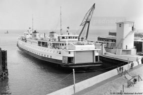 Naast de fuik in aanbouw in 1958