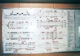 Het algemeen (veiligheids-) plan aan boord van de veerboot Vlissingen-Breskens.