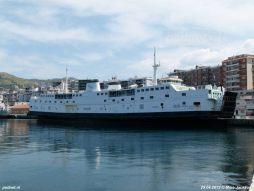De Athos Matacena in de haven van Reggio di Calabria in 2012. - De Athos Matacena in de haven van Reggio di Calabria in 2012. Eind 2012 vertrok het schip richting sloopstrand in Turkije.