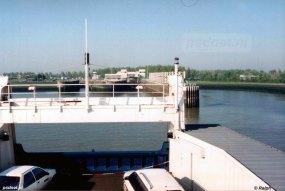 De PSD-veerboot in de veerhaven van Breskens die in 1958 werd aangelegd.