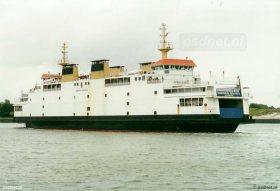 De PSD-veerboot Beatrix in de veerhaven van Breskens.