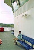 De zusterschepen Koningin Beatrix en Prins Johan Friso boden voor- en achterop ruimte voor passagiers.
