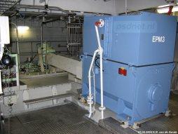 Een van de vier EPM's van de Friso. EPM staat voor Electric Propulsion Motor.