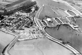 Hansweert luchtfoto jaren 30