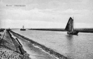 Havenkanaal Breskens met Prov. Boot