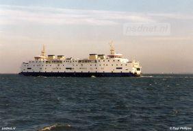 Een foto van de veerboot Prinses Juliana in het jaar 2003, het laatste jaar voor de veerdienst Kruiningen-Perkpolder.