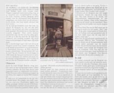 Een krantenknipsel van de laatste vaart van de Margriet in 1995, het einde van een tijdperk bij de PSD.