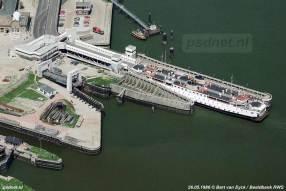 Luchtfoto Irene in de fuik van Vlissingen