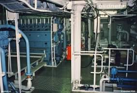 De hoofdmotoren van de Koningin Beatrix bestaan uit vier Stork-Wärtsilä diesels (type 9HFD240) met een asvermogen an 1.580 kW (1.000 omwentelingen per minuut). De diesels zijn gekoppeld aan ABB-generatoren die elk 1.590 kW kunnen leveren (1.000 omwentelingen per minuut).