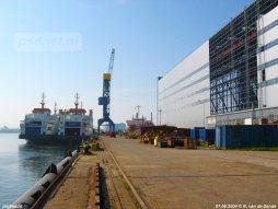 De laatste PSD-schepen in Zeeland liggen naast elkaar bij de werf in Vlissingen-Oost. Een jaar later zou hier de volgende dubbeldeksveerboot liggen, de nieuwe Dokter Wagemaker (2005) van het Texelse TESO.