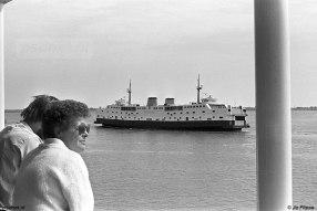 Passagiers op de PSD-boot