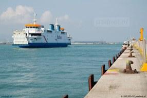 De Acciarello in Piombino, een drukke Italiaanse haven waar veerboten naar Elba vertrekken.